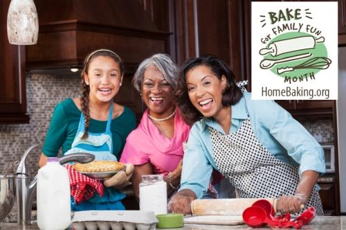 Three generations baking