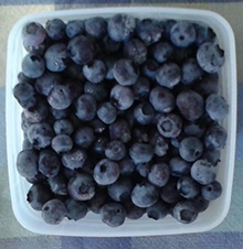 blueberries from freezer